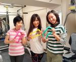 全日本クラスの女性ボディービルダーの楽しい教室